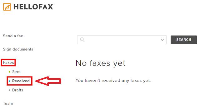 HelloFax(ハローファックス)の受信方法