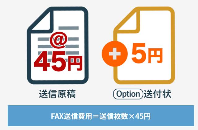 スマホでFAX45のFAX送信料金