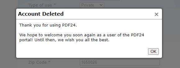 PDF24FAXの解約