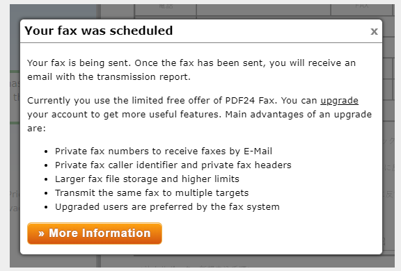 PDF24FAXの送信方法