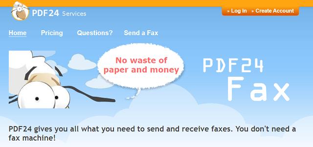 PDF24FAXへの申し込み
